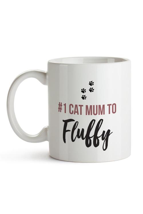 Personalised No.1 Cat Mum Ceramic Mug