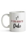Personalised No.1 Dog Mum Ceramic Mug