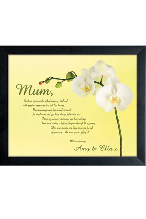 Personalised To Mum With Love Small Frame