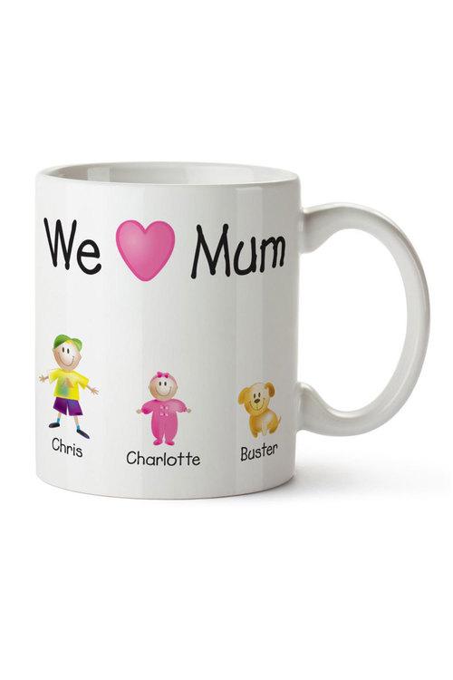 Personalised I Love Mum Ceramic Mug
