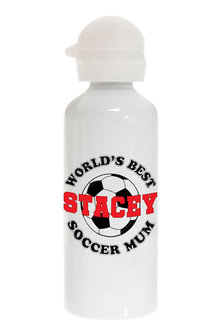 Personalised World's Best Soccer Mum Stainless Steel Drink Bottle - 282696