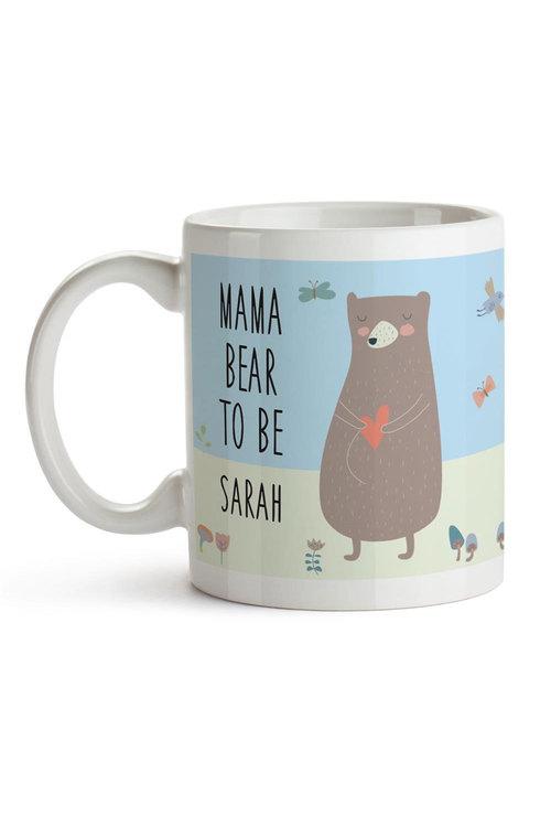 Personalised Mama Bear To Be Ceramic Mug