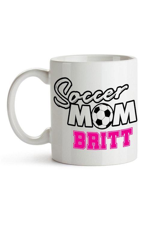 Personalised Soccer Mum Ceramic Mug