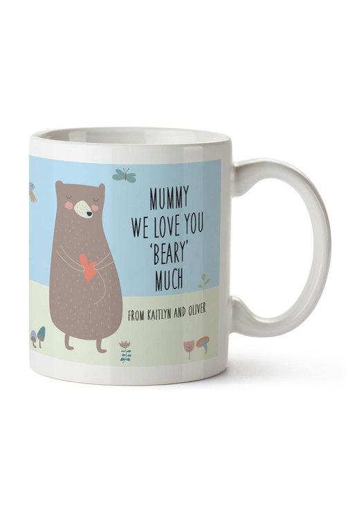 Personalised We Love You Beary Much Ceramic Mug