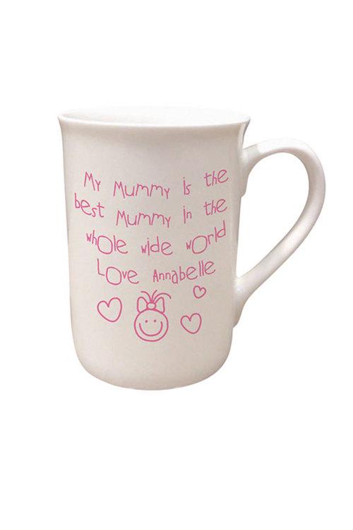 Personalised Mummy Is The Best Bone China Mug