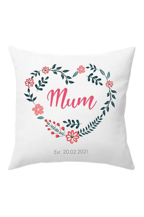 Personalised Mum Established Cushion Cover
