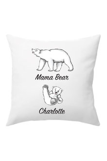 Personalised Mumma Bear Cushion Cover With One Baby Bear - 282708