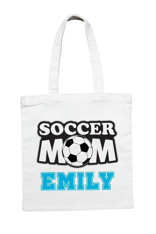 Personalised Soccer Mum Tote Bag