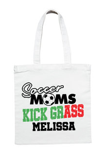 Personalised Soccer Mum's Kick Grass Tote Bag - 282714