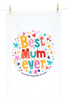 Personalised Best Mum Ever Tea Towel - 282715