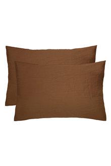 Bambury French Linen Pillowcase Pair - 282898