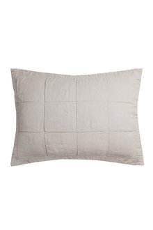 Bambury French Linen Quilted Pillowcase - 282899