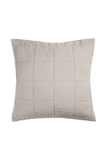 Bambury French Linen Quilted Euro Pillowcase - 283140