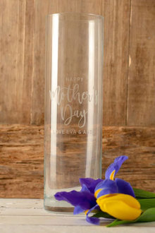 Personalised Glass Vase - Happy Mothers Day - 283532