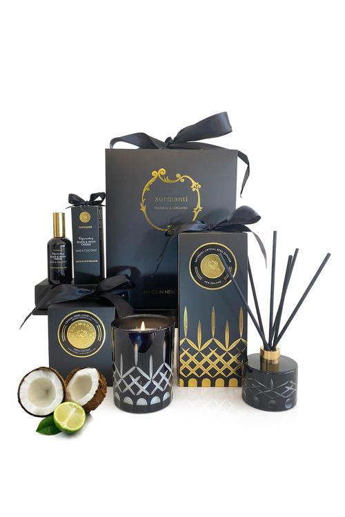 Surmanti Lime & Coconut Opulence Crystal Gift Box