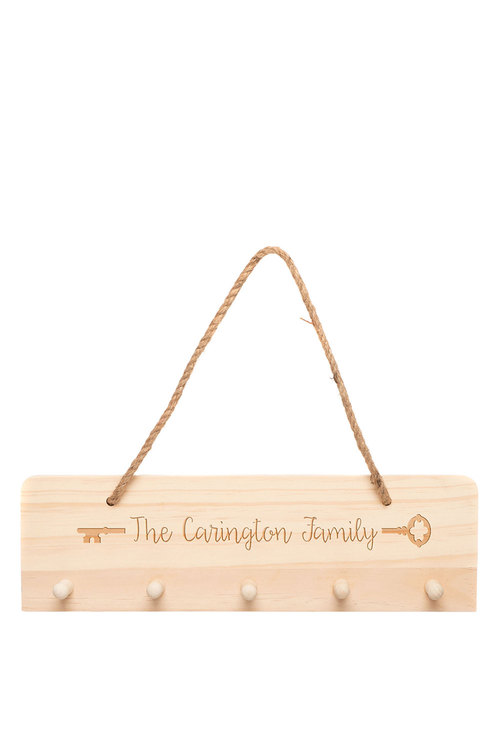 Personalised Wooden Family Key Hanger