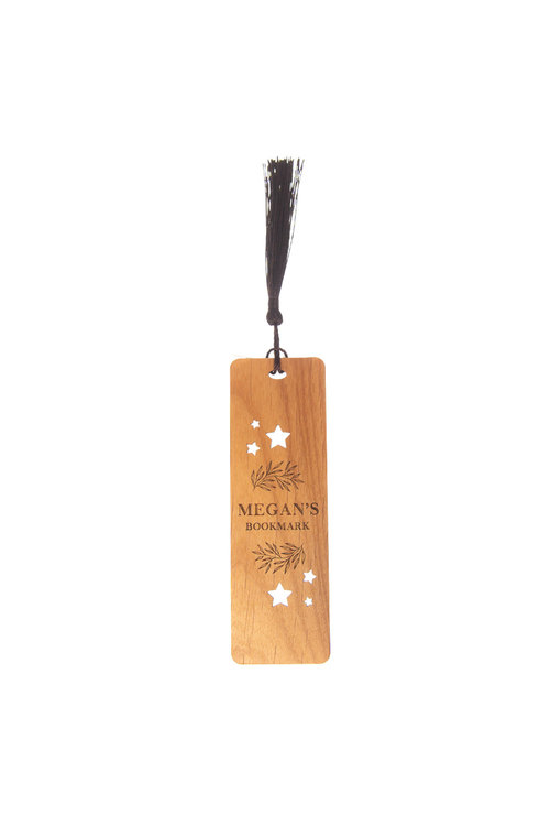 Personalised Engraved Stars Novelty Wooden Bookmark