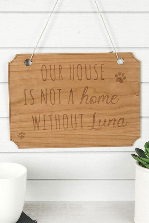 Personalised Wooden Our House Pet Sign