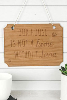 Personalised Wooden Our House Pet Sign - 283657