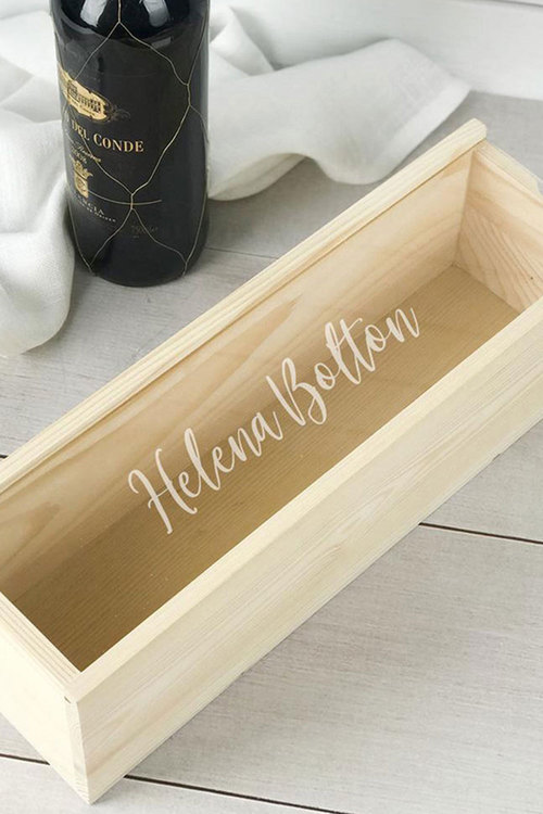 Personalised Single Raw Wine Box