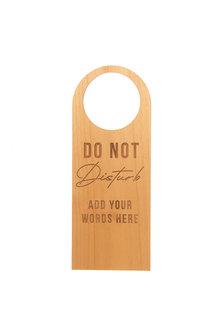 Personalised Engraved Do Not Disturb Wooden Door Hanger - 283665