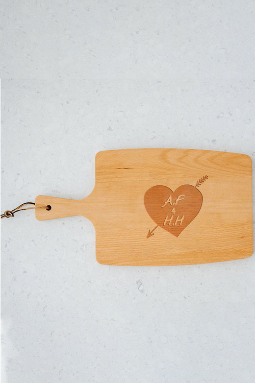 Personalised Heart And Arrow Paddle Board