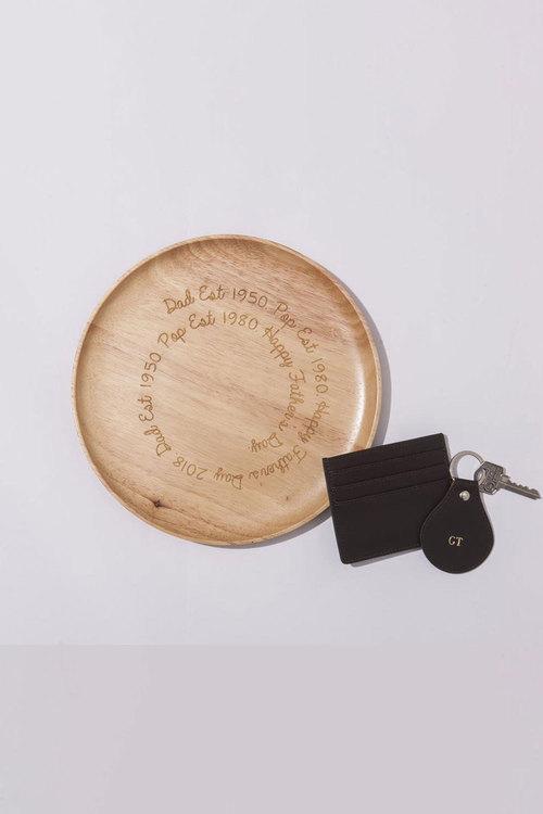 Personalised Wooden Engraved Trinket Dish