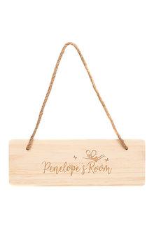 Personalised Wooden Kids Room Sign -Rocket - 283674