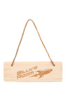Personalised Wooden Kids Room Sign -Rocket