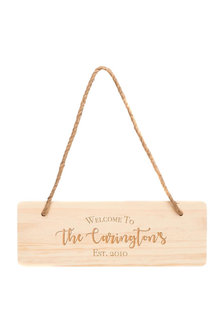 Personalised Wooden Welcome Sign - 283676