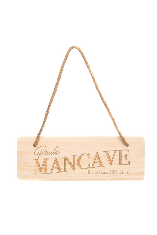 Personalised Wooden Mancave Sign