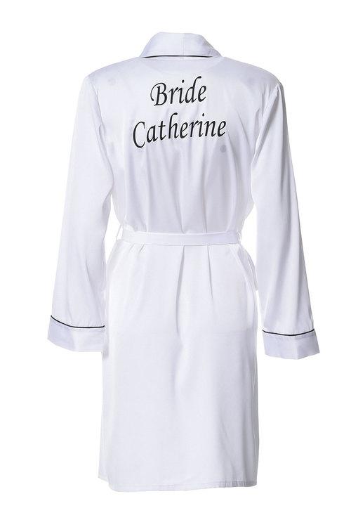 Personalised Satin  Robe