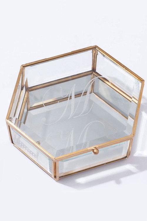 Personalised Personalised Engraved Hexagon Jewellery Box