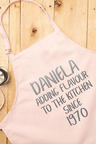 Personalised Adding Flavour Pink Apron
