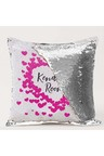 Personalised Gold Sequin Cushion Cover- Mini Hearts