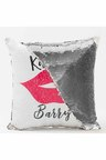Personalised Sequin Cushion Cover-Lips