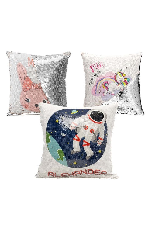 Personalised Choose-A-Design Sequin Cushion Cover