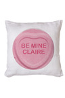 Personalised Be Mine Sweets Cushion Cover