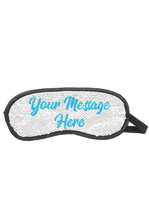 Personalised Custom Message Sequin Eye Mask