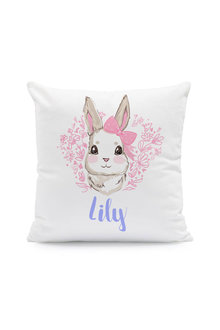 Personalised Bunny with Bow Cushion Cover - 283731