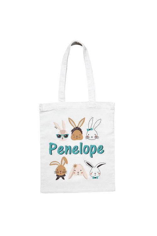 Personalised The Bunnies Easter Tote Bag