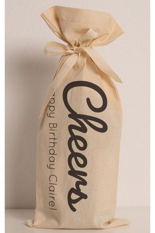 Personalised Wine Gift Bag - Cheers