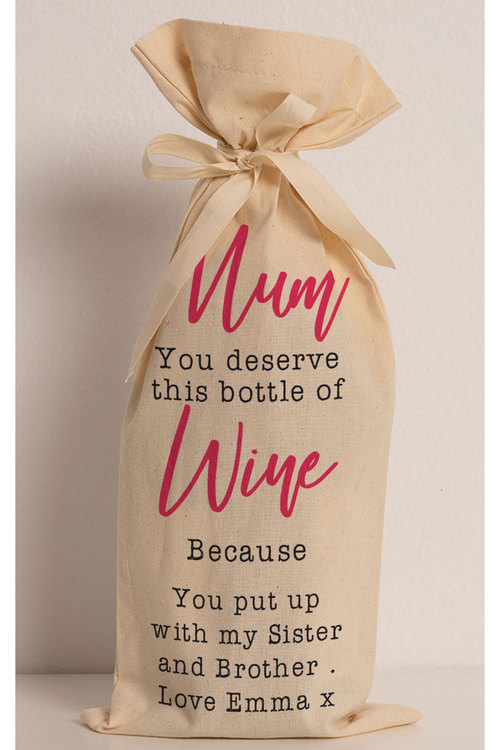 Personalised Wine Gift Bag - You Deserve This Bottle