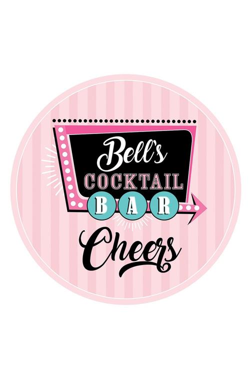 Personalised Personalised Cocktail Bar Coaster Set Of 4