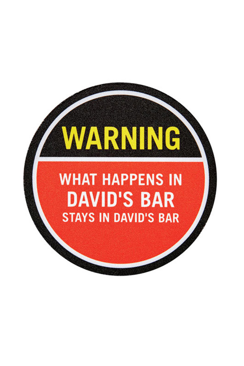 Personalised Warning Coasters