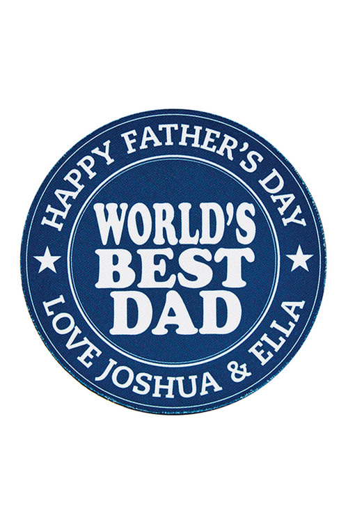 Personalised World'S Best Dad Coasters