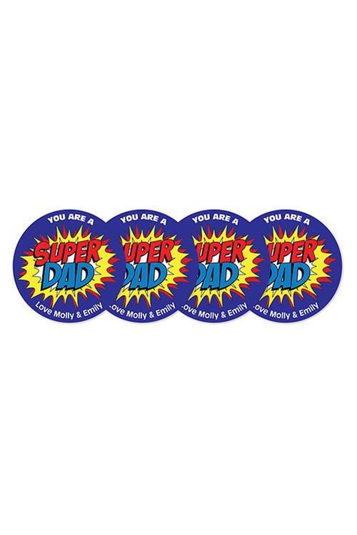 Personalised Super Dad Coasters