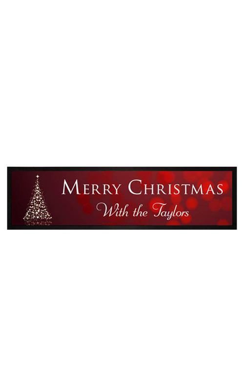 White Christmas Bar Mat
