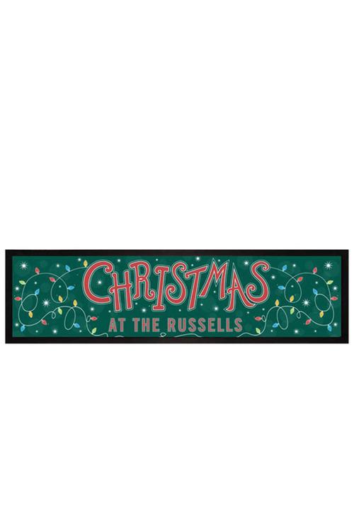 Personalised Christmas Lights Bar mat