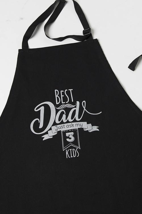 Personalised Black Apron - Best Dad